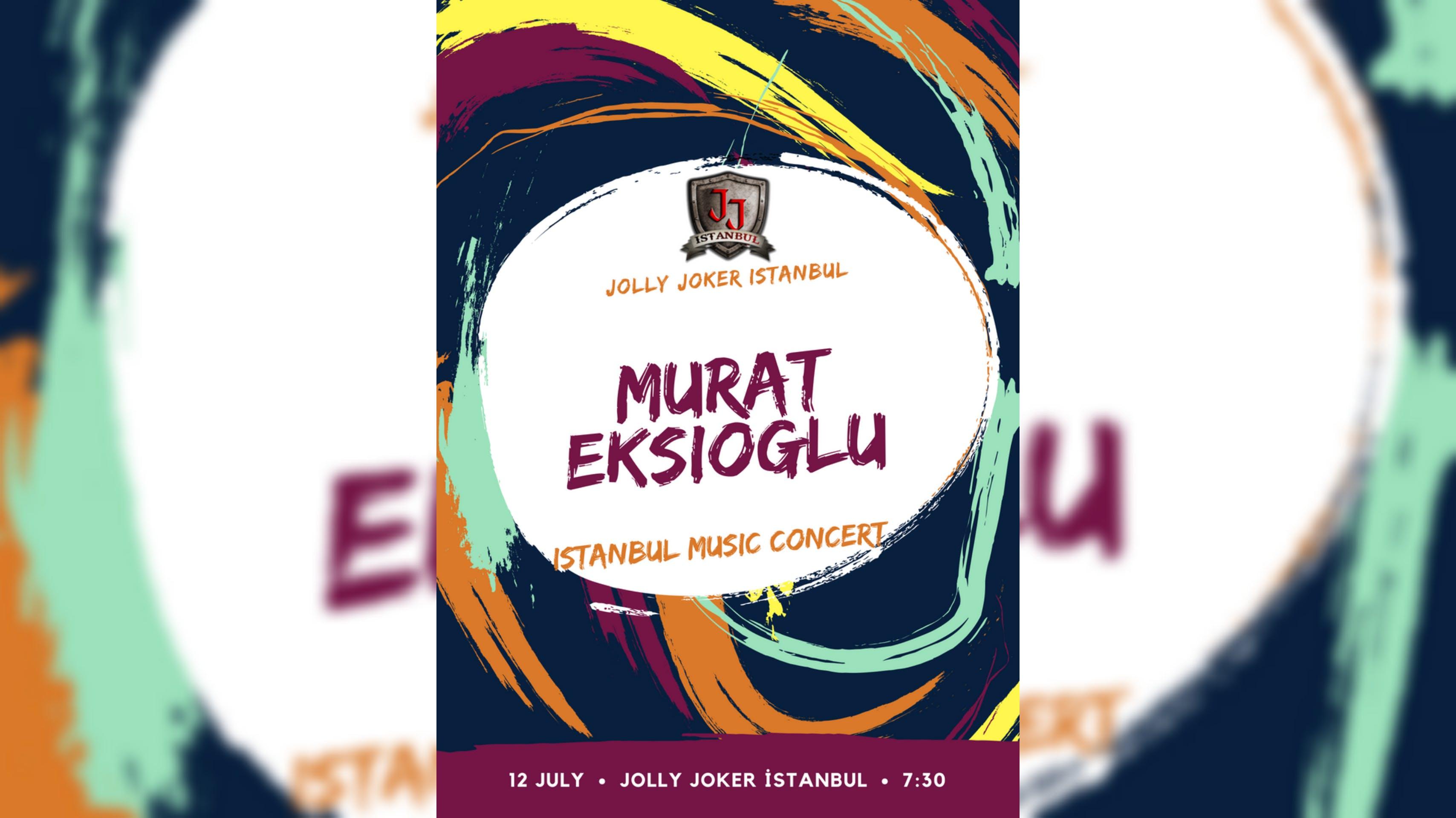 Murat Ekşioğlu Jolly Joker İstanbul Concert Etkinlik Afişi