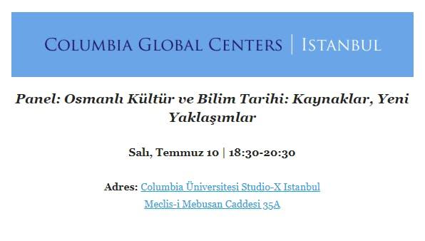 Osmanlı Kültür ve Bilim Tarihi: Kaynaklar, Yeni Yaklaşımlar Etkinlik Afişi