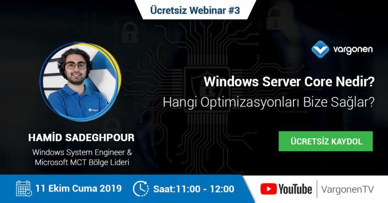 Windows Server Core Nedir ve Hangi Optimizasyonları Sağlar? | Ücretsiz Kaydol Etkinlik Afişi