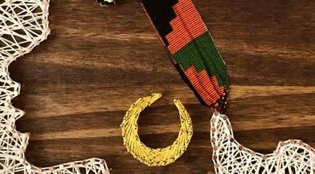 Masterpiece Ankara String Art - Afro Lady Etkinlik Afişi