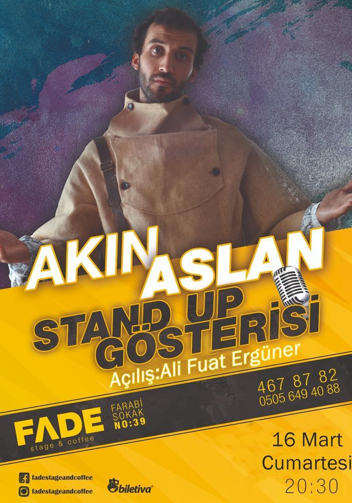 Akın Aslan Stand Up Etkinlik Afişi