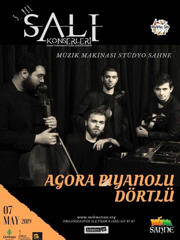 Agora Piyanolu Dörtlü Etkinlik Afişi