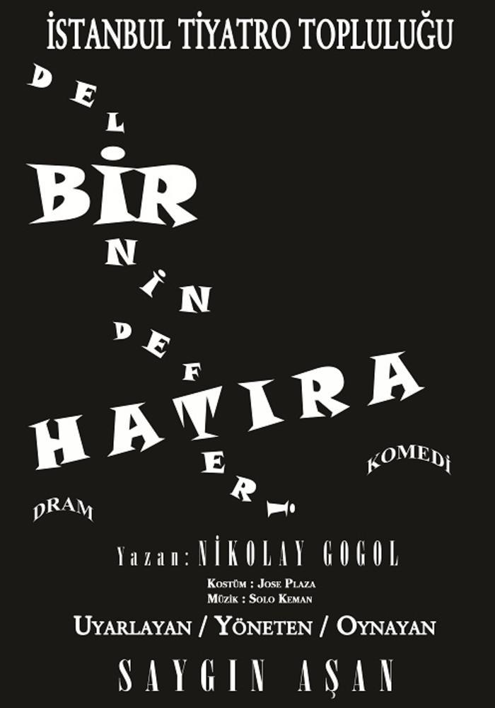 Bir Delinin Hatıra Defteri (Ankara Turnesi) Etkinlik Afişi