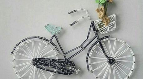 Masterpiece Galata String Art - Bisiklet Etkinlik Afişi