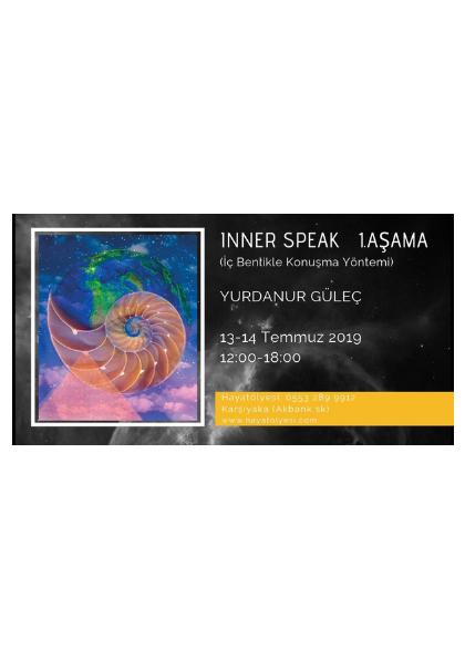 Inner-Speak (iç Benlikle Konuşma Yöntemi) 1. Aşama Etkinlik Afişi