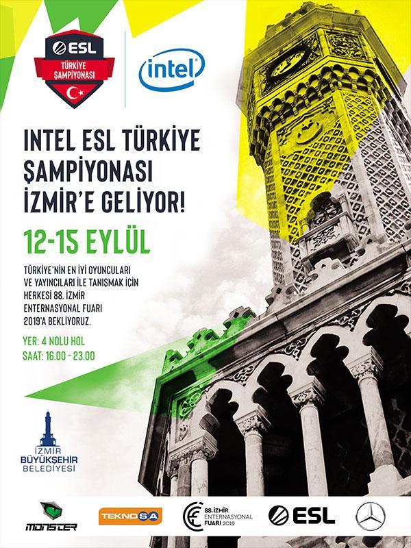 88. İzmir Enternasyonal Fuarı / Intel Esl Türkiye Şampiyonası Etkinlik Afişi