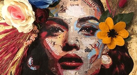 Masterpiece Galata String Art - Handmade Çiçek Tablo Etkinlik Afişi