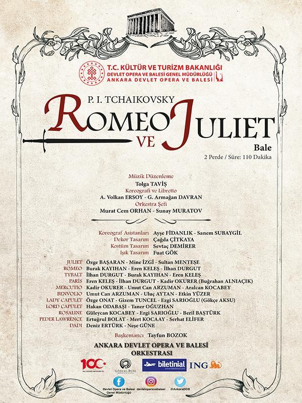 Romeo&Juliet-Ankara DOB Etkinlik Afişi